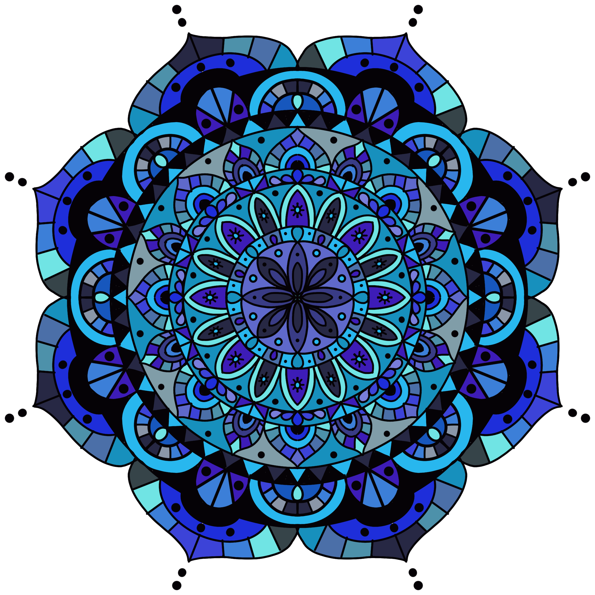 Mandala 6 Colored Procreate