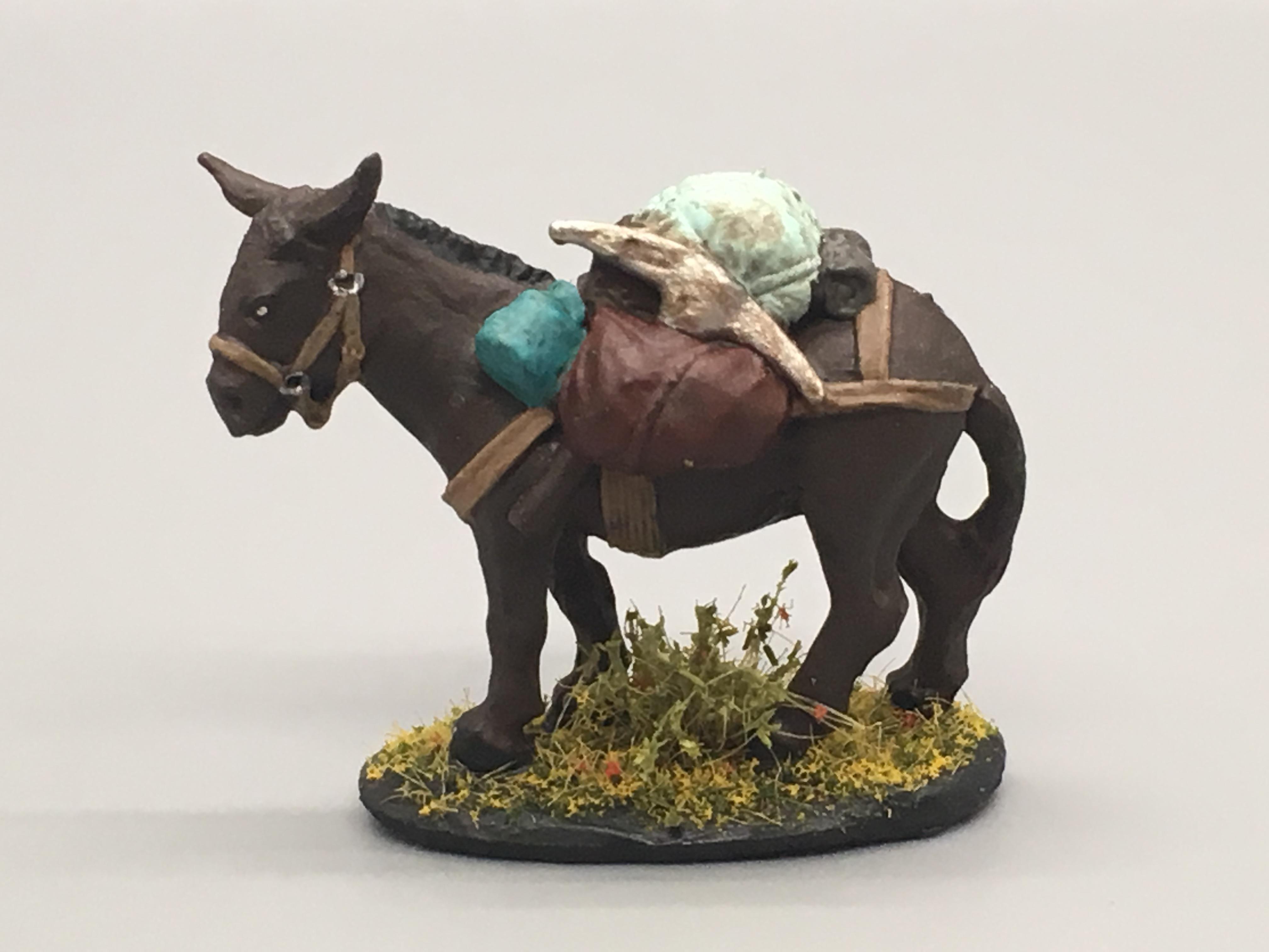 Donkey Miniature Painted