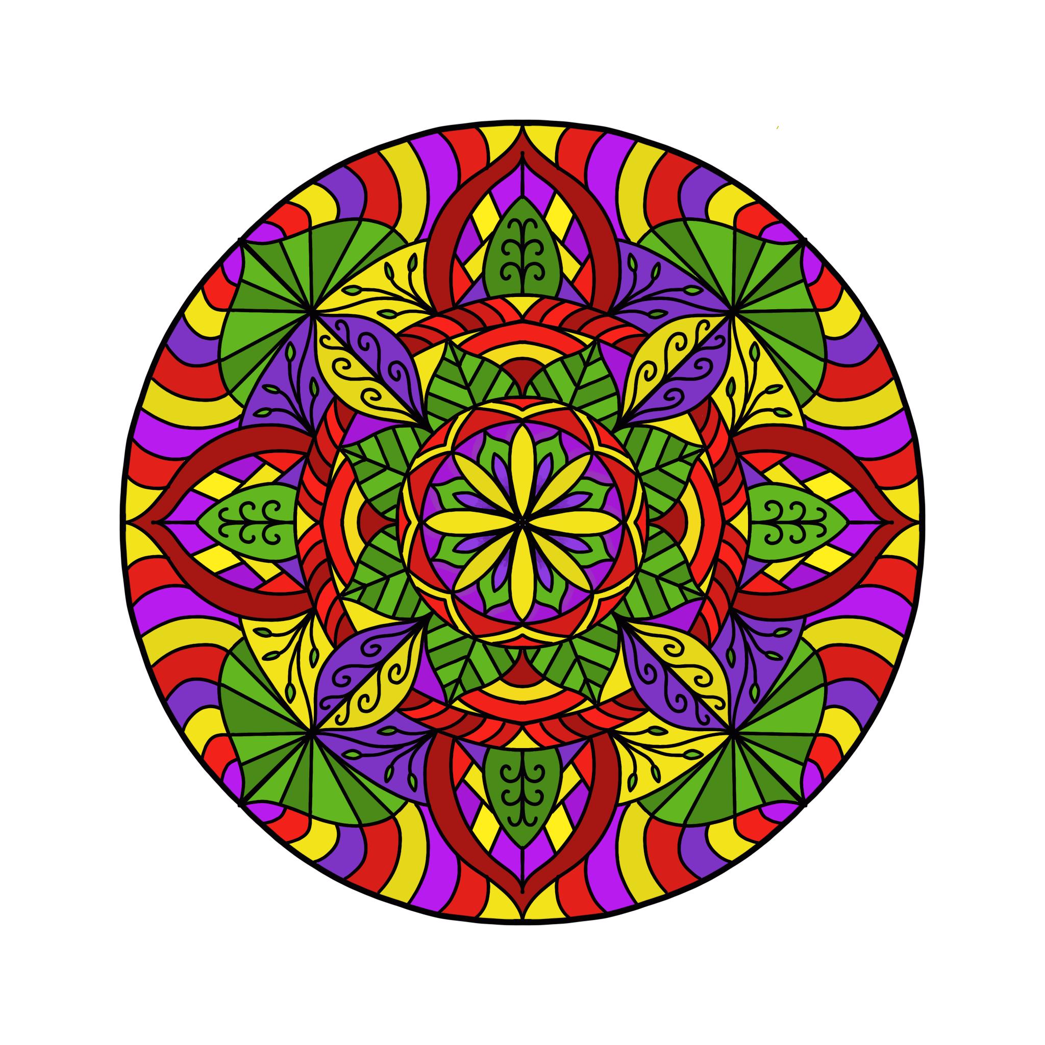 Mandala 10 Colored Procreate