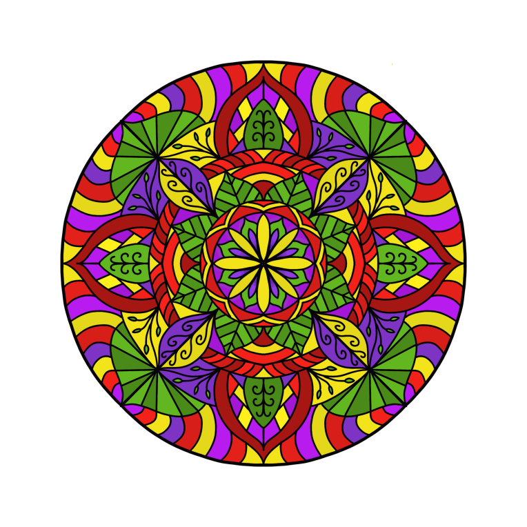 Mandala 10 Colored Procreate