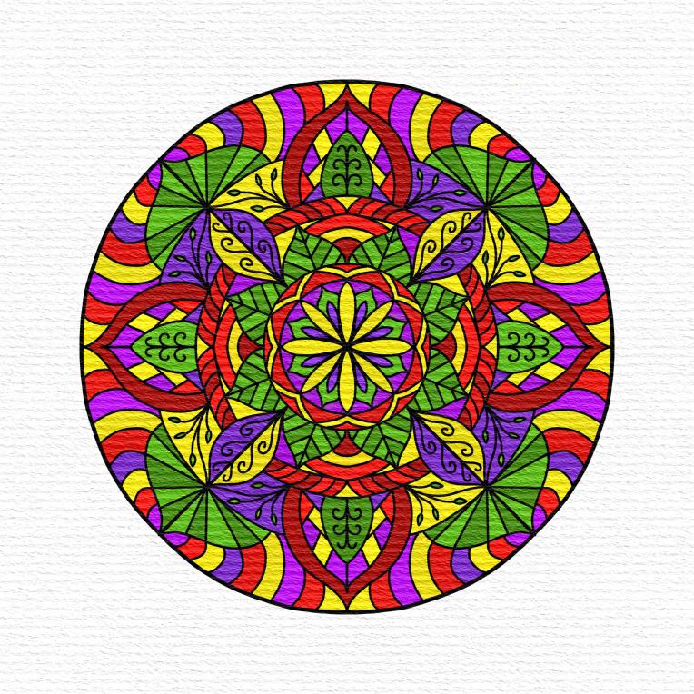 Mandala 10 Paper Texture iColorama