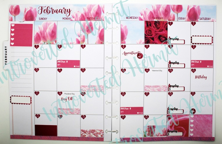 IH Feb Tulips Monthly Layout